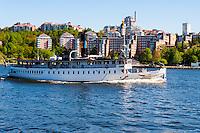 Sweden, Stockholm, Blockhusudden. Storskär passenger steamboat.