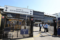 File photo dated 01-04-2012 of a general view of gate entrance to White Hart Lane.