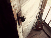 Musical instruments. Uke in Clarksdale, Mississippi. Property release