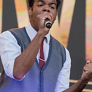 Motown The Musical on stage at West End Live on June 16 2018  in Trafalgar Square, London.