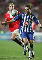 LISBOA 17 OCTOBER  2004: (F to B) PEPE #7 and AZAR KARADAS #22, in the, 6¼ leg of the Super Liga, season 2004/2005, match SL Benfica v  FC Porto, held in Luz stadium, 17/10/2004  19:45<br />(PHOTO BY: NUNO ALEGRIA / AFCD)