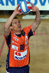 Rok Satler of ACH Volley at 4th and final match of Slovenian Voleyball  Championship  between OK Salonit Anhovo (Kanal) and ACH Volley (from Bled), on April 23, 2008, in Kanal, Slovenia. The match was won by ACH Volley (3:1) and it became Slovenian Championship Winner. (Photo by Vid Ponikvar / Sportal Images)/ Sportida)