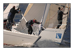 The Brewin Dolphin Scottish Series, Tarbert Loch Fyne...Bow work on Significant and Shadowfax in Class 5.