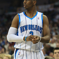 11 February 2009: New Orleans Hornets guard Chris Paul (3) during a NBA game between the Boston Celtics and the New Orleans Hornets at the New Orleans Arena in New Orleans, LA.