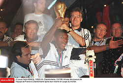©Lionel Hahn/ABACA.10925.53.Paris-France,12/07/ 1998. France made soccer history here on Sunday night, when the underdogs beat defending champions Brazil 3-0 to win the last World Cup this century before a delirious crowd of 80,000 people.