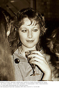 Rebecca Fraser during a book party given by Naim Ayattallah for Snow by Lord Lambton. Arts Club. London. 19 September 1983. film 83649f2<br />© Copyright Photograph by Dafydd Jones<br />66 Stockwell Park Rd. London SW9 0DA<br />Tel 0171 733 0108