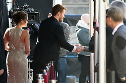 EXCLUSIVE: Lifetime movie 'Harry & Meghan' shooting scenes with actors Murray Fraser as Harry, and Karin Inghammar as Violet Von Westenholtz the matchmaker who introdiced Prince Harry and Meghan to each other. Meghan Markle, who is not in this scene will be portrayed by actress Parisa Fitz-Henley. The actors are filming scenes in downtown Vancouver which involve Harry greeting the crowd on a red carpet. 15 Feb 2018 Pictured: Karin Inghammar, Murray Fraser. Photo credit: MEGA TheMegaAgency.com +1 888 505 6342