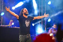 Gabriel O Pensador & Karol Conka se apresentam no Palco Atlântida durante a 22ª edição do Planeta Atlântida. O maior festival de música do Sul do Brasil ocorre nos dias 3 e 4 de fevereiro, na SABA, na praia de Atlântida, no Litoral Norte gaúcho.  Foto: Lucas Uebel / Agência Preview