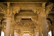 The cenotaphs of the Maharajahs at the Royal Gaitor (Gatore ki Chhatryan), Jaipur, India