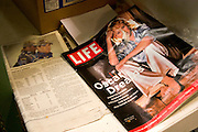 Life Magazine's Oscar edition reading material in Orange Blossom Groves produce shop.  Seminole Tampa Bay Area Florida USA