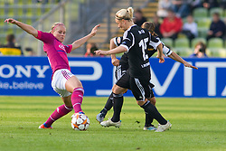 17.05.2012, Olympiastadion, Muenchen, GER, UEFA CL, Finale Damen, Olympic Lyon (FRA) vs FFC Frankurt (GER), im Bild Lyon's french midfielder Eugénie Le Sommer and Frankfurt's German forward Svenja Huth in action during the UEFA Champions League final for women played at the Olympia Stadion and contested by Olympic Lyon from France and FFC Frankurt from Germany, Germany on 2012/05/17 . EXPA Pictures © 2012, PhotoCredit: EXPA/ Mitchel Gunn