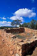 Pueblo ruins at Mule Canyon, Cedar Mesa, Utah USA