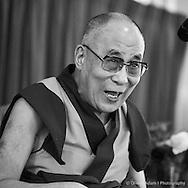 Meeting with Tibetan community in Grand Hotel. Dalai Lama