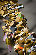 Love locks, Florence, Tuscany, Italy