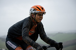 Jip van den Bos at Strade Bianche - Elite Women 2018 - a 136 km road race on March 3, 2018, starting and finishing in Siena, Italy. (Photo by Sean Robinson/Velofocus.com)