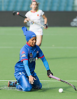 BRUXELLES (Belgium) -   Syafiqah MOHD ZAIN (Mal.)   during Hockey World League women (semi final competition)  SPAIN v MALAYSIA .  COPYRIGHT KOEN SUYK
