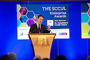 27/01/2014  Minister for Innovation Mr. Sean Sherlock TD  at the SCCUL Enterprise Awards at NUIG.  Photo:Andrew Downes.