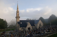 Saint-Budoc church in Trégarvan, Finistère, Brittany, France.