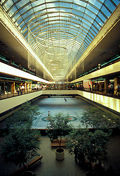 Stock photo of a quiet skating rink at the Houston Galleria.