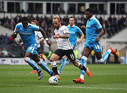 Johnny Russell of Derby County (C) in action - Mandatory byline: Jack Phillips / JMP - 07966386802 - 18/10/2015 - FOOTBALL - The iPro Stadium - Derby, Derbyshire - Derby County v Wolverhampton Wanderers - Sky Bet Championship