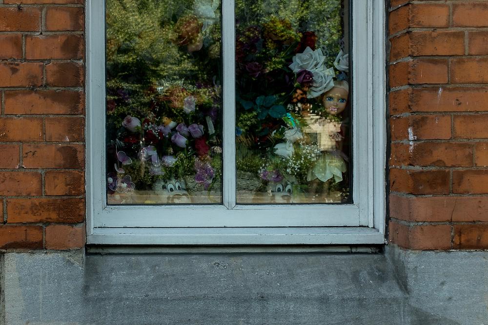Reflections from a window, in Dublin, Ireland.