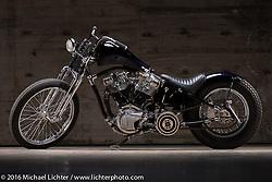 Majik Mike Rabideau custom Harley-Davidson at the Handbuilt Show. Austin, TX, USA. April 6, 2016.  Photography ©2016 Michael Lichter.