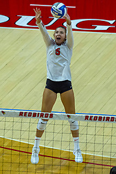 BLOOMINGTON, IL - August 13: Sarah Jacobsen  during a college Women's volleyball Scrimmage of the Illinois State Redbirds on  August 13 2021 at Illinois State University in Normal, IL. (Photo by Alan Look)