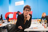 09 DEC 2014, KOELN/GERMANY:<br /> Annegret Kramp-Karrenbauer, CDU, MdL, Ministerpraesidentin Saarland, wartet auf ihren Redeeinsatz, CDU Bundesparteitag, Messe Koeln<br /> IMAGE: 20141209-01-125<br /> KEYWORDS: Party Congress