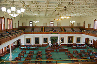 Senate Chamber in Texas Capitol Building. Austin.