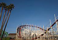 Big Dipper roller coaster at Santa Cruz Beach Boardwalk, Santa Cruz, California