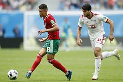 (l-r) Amine Harit of Morocco, Sardar Azmoun of IR Iran