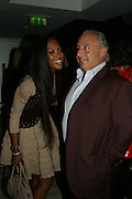 NAOMI CAMPBELL AND SIR PHILIP GREEN, Party hosted by Larry Gagosian at Nobu, Berkeley St. London. 9 October 2007. -DO NOT ARCHIVE-© Copyright Photograph by Dafydd Jones. 248 Clapham Rd. London SW9 0PZ. Tel 0207 820 0771. www.dafjones.com.