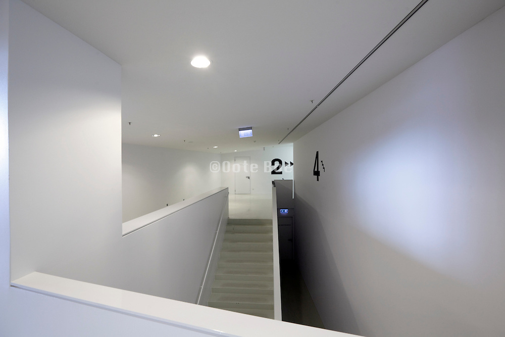 hall and stairs inside The Filmmuseum Eye Amsterdam