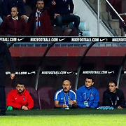 Trabzonspor's headcoach Shota Arveladze (L) during their Turkish Super League match Trabzonspor between Gaziantepspor at the Avni Aker Stadium at Trabzon Turkey on Wednesday, 28 October 2015. Photo by Aykut AKICI/TURKPIX