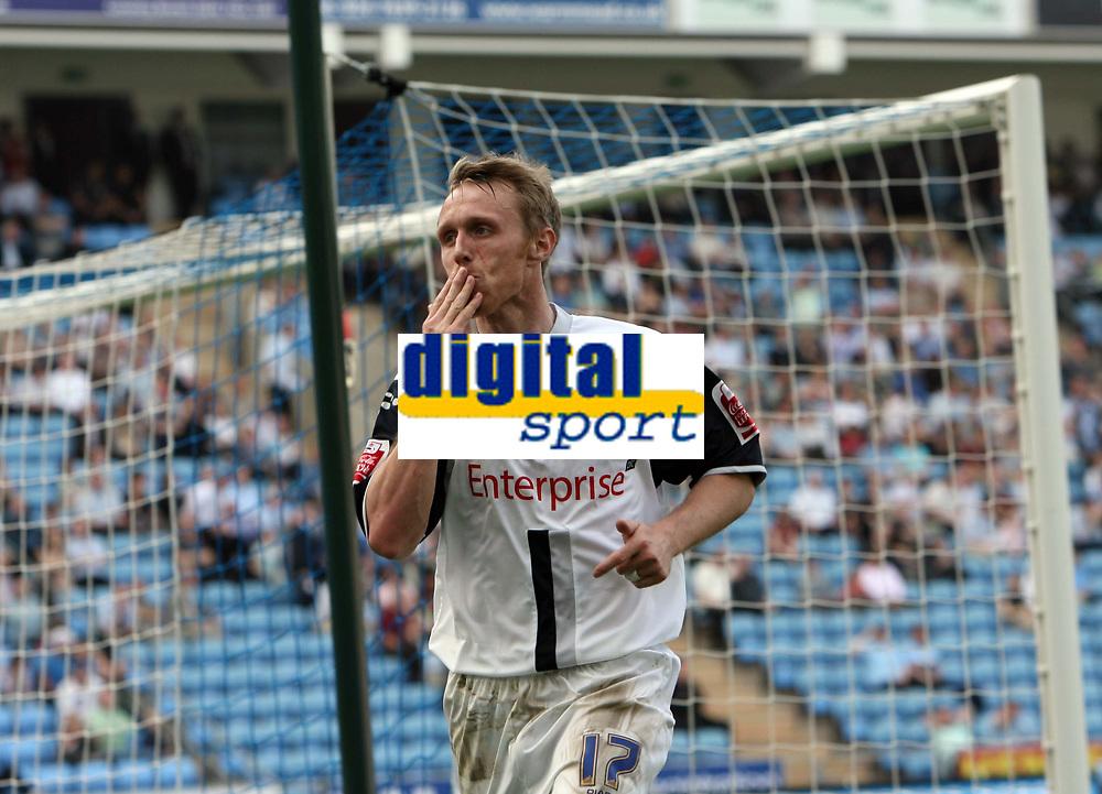 Photo: Rich Eaton.<br /> <br /> Coventry City v Preston North End. Coca Cola Championship. 14/04/2007. Brett Ormerod celebrates scoring Prestons 4th goal