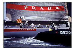 Team Prada protests America One and gains victory in the LV Cup, winning the opportunity to race Team New Zealand in the America's Cup...New Zealand, a country that absorbs their sportng achievements into legend. The America's Cup, the oldest sporting trophy,  won and retained by an NZ based syndicate, with considerable state aid and of course the support of the people, in their droves...Marc Turner / PFM