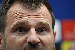 December 10, 2018 - Bruges, Belgique - BRUGGE, DECEMBER 10 :  the eyes of Ivan Leko head coach of Club Brugge pictured during press conference the day before the UEFA Champions League group A match between Club Brugge KV and Atletico Madrid on December 10, 2018 in Brugge, 10/12/2018 (Credit Image: © Panoramic via ZUMA Press)