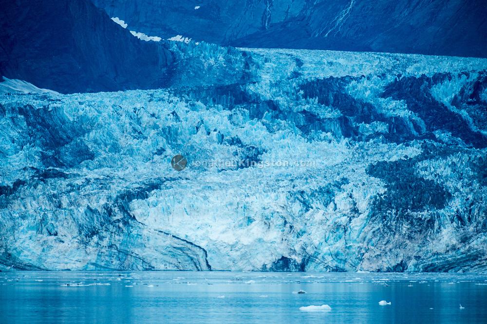 Blue dawn on the Johns Hopkins Glacier in Glacier Bay National Park, Alaska.
