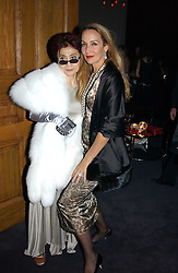 Left to right, YOKO ONO and JERRY HALL at Andy & Patti Wong's Chinese New Year party to celebrate the year of the Rooster held at the Great Eastern Hotel, Liverpool Street, London on 29th January 2005.  Guests were invited to dress in 1920's Shanghai fashion.<br /><br />NON EXCLUSIVE - WORLD RIGHTS