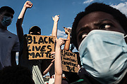 Paris, France, 03/06/20 | Thousands of youngsters gathered in Paris today to protest against police violence during a huge Black Lives Matter protest.