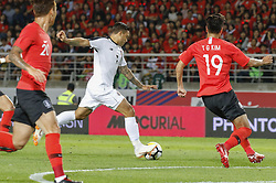 September 7, 2018 - Goyang, Gyeonggi, South Korea - September 7, 2018-Goyang, South Korea-Kim Yonggwon of South Korea and David Ramirez of Costa Rica action on the field during an Football A Match South Korea vs Costa Rica at Goyang Sports Complex in South Korea. Match Won South KOrea, Score by 2-0. (Credit Image: © Ryu Seung-Il/ZUMA Wire)