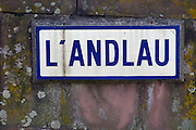 stream sign l'andlau andlau alsace france