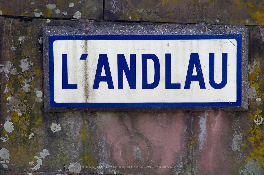 stream sign l'andlau andlau alsace france