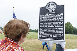 Dedication ceremony of Texas Historical Commission marker for Big Spring,  Trinity Forest, Dallas, Texas, USA