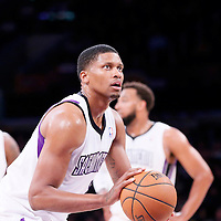 28 February 2014: Sacramento Kings small forward Rudy Gay (8) is seen at the free throw line during the Los Angeles Lakers 126-122 victory over the Sacramento Kings at the Staples Center, Los Angeles, California, USA.