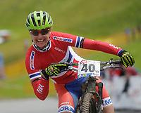 Sykkel <br /> 29.06.2013<br /> Kirchberg Østerrike<br /> Foto: Gepa/Digitalsport<br /> NORWAY ONLY<br /> <br /> UCI Weltmeisterschaften Marathon. Bild zeigt den Jubel von Gunn-Rita Dahle Flesjå (NOR).