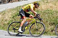 Greg Van Avermaet (BEL - BMC) yellow jersey during the 105th Tour de France 2018, Stage 11, Alberville - La Rosiere Espace Bernardo (108,5 km) on July 18th, 2018 - Photo Luca Bettini / BettiniPhoto / ProSportsImages / DPPI- photo Luca Bettini/BettiniPhoto©2018