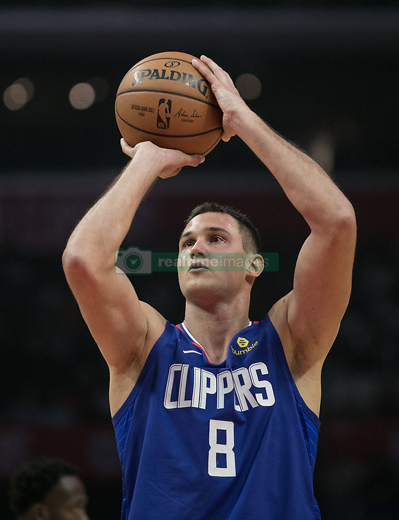 October 19, 2018 - Los Angeles, California, U.S - Danilo Gallinari #8 of the Los Angeles Clipperst hrows a free throw during their NBA game with the Oklahoma Thunder on Friday October 19, 2018 at the Staples Center in Los Angeles, California. Clippers defeat Thunder, 108-92. (Credit Image: © Prensa Internacional via ZUMA Wire)