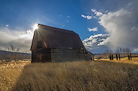 The day I left Montana, the weather was constantly changing from blue skies to snow showers. I pulled off the interstate and found this random barn to photograph under the beautiful sky.