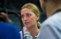 November 8, 2018 - Prague, Czech Republic - Petra Kvitova of the Czech Republic talks to the media ahead of the 2018 Fed Cup Final between the Czech Republic and the United States of America (Credit Image: © AFP7 via ZUMA Wire)